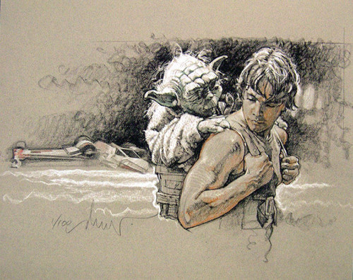 Luke-Yoda-by-Drew-Struzan-luke-skywalker-25982265-500-396