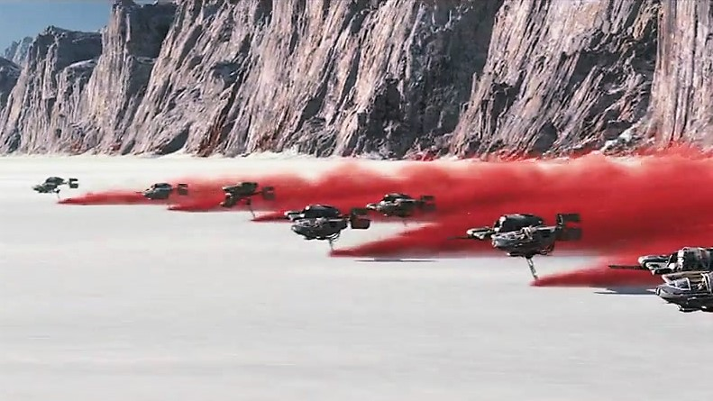 Resistance-pilots-race-toward-First-Order-walkers-on-Crait-TLJ